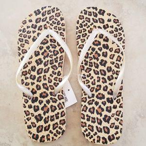 SALE! Cheetah Flipflops NWT